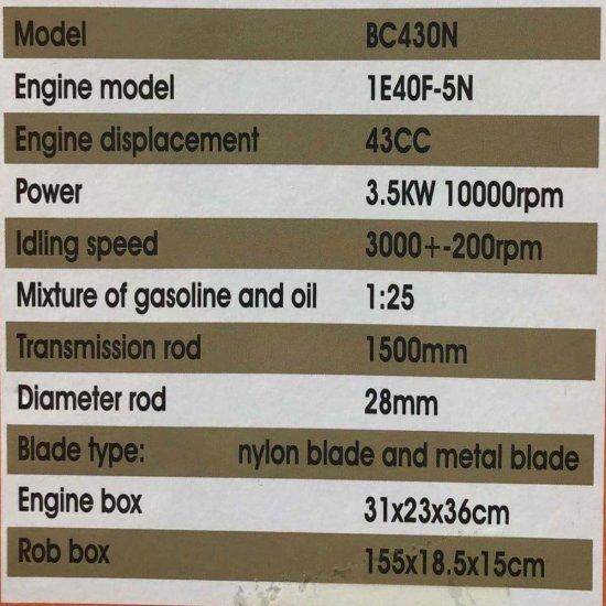 Motocoasa PANDORA 430N, 4CP, 10.000RPM +2 Sisteme Taiere