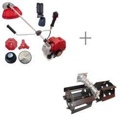 Pachet motocositoare benzina KALTMAN KT4400, 5.8CP, 52CC + Prasitoare, Accesoriu pentru Motocoasa, 28 mm * 9 T