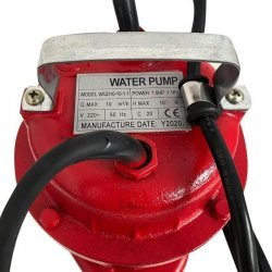 Pachet pompa submersibila pentru apa murdara, LUK TECH WQD10 cu flotor, 1.1 kW, 10 m3/h 2 toli + furtun pompieri 20 m