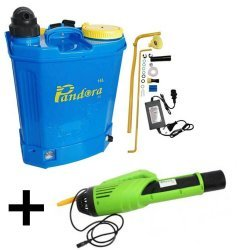 Pompa de stropit 2 in 1 (baterie + manuala) ,16L, Pandora + Atomizor electric portabil Pandora
