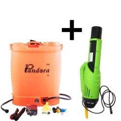 Pompa electrica pentru stropit cu acumulator, 18 litri, Pandora + Atomizor electric portabil Pandora