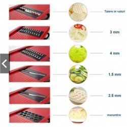 Razatoare multifunctionala 6 in 1 pentru legume