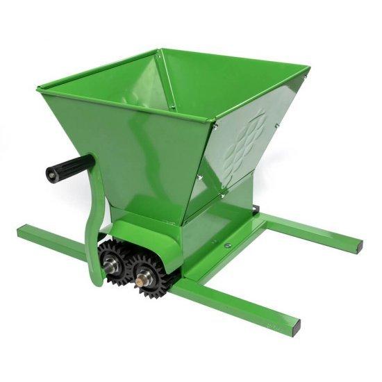 Zdrobitor manual de struguri, 300-350Kg/Ora, cuva 30 Litri, fabricat in Bulgaria, Micul Fermier