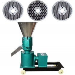 Granulator Furaje KL-120 motor 3kw/1500 RPM/230V/80kg/h cu 3 matrite