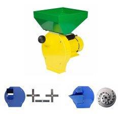 Moara cu ciocanele 4 in 1 (boabe, stiuleti, fructe, lucerna) PROCRAFT ME3500, Cuva Mare, 3500W, 200kg/h, 3000 rpm
